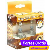 Tungsram H7 12v 55w Megalight Ultra +150 58520NXNU ( 2 Lâmpadas )