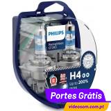 Philips RacingVision GT200 H4 ( 2 Lampadas )