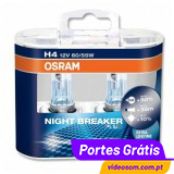 OSRAM NIGHT BREAKER PLUS H4 (2 LÂMPADAS )