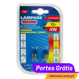 LAMPA - LÂMPADA 4W BA9s AZUL