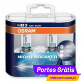 OSRAM NIGHT BREAKER PLUS HB3 ( 2 Lâmpadas )