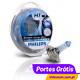 PHILIPS BLUE VISION ULTRA H7 + W5W ( 4 Lâmpadas )