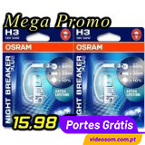 OSRAM NIGHT BREAKER PLUS H3 ( 2 BULBS )