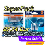 Superpack Cool Blue Intense H7 + W5W