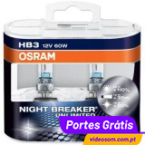 Osram HB3 Night Breaker Unlimited ( 2 Lâmpadas )