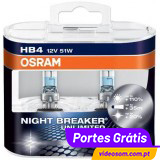Osram Night Breaker Unlimited  HB4 12v 51w ( 2 Lâmpadas )