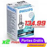 PHILIPS  D2S Xenon X-treme Vision ( 2 Lâmpadas )