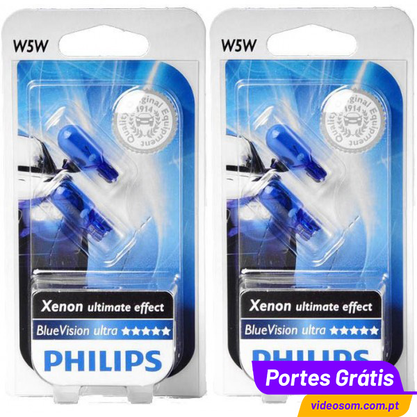 Philips WhiteVision W5W   Car Sidelight Bulb/Lamps ...