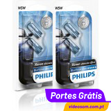 PHILIPS W5W BLUE VISION ULTRA ( 4 lâmpadas )