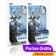 PHILIPS W5W BLUE VISION ULTRA ( 4 lâmpadas )