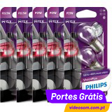 Pack Philips Vision Plus P21/5w ( 4 Bulbs ) + P21w (6 Bulbs)