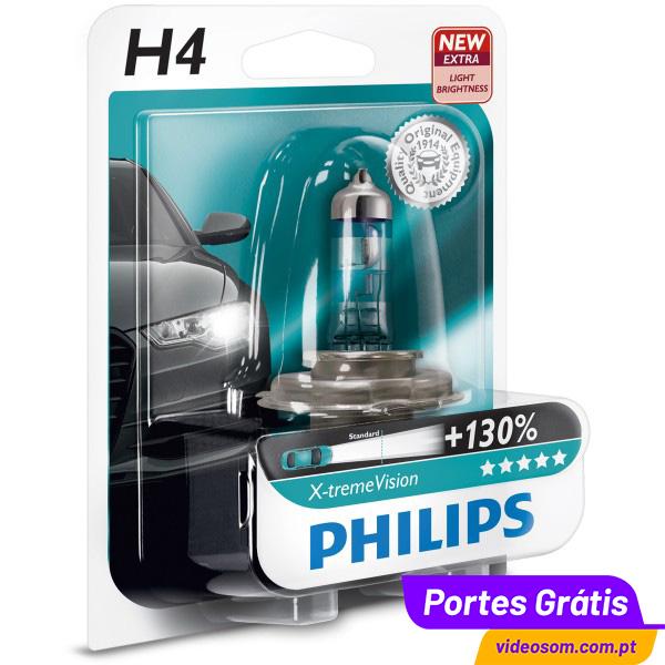 philips xtreme vision 130 h4 12v 60 55w 2 l mpadas. Black Bedroom Furniture Sets. Home Design Ideas