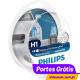 Philips WhiteVision H1 + w5w  ( 4 Bulbs )