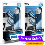 Philips WhiteVision W5W  12v  5w  ( 4 Bulbs )