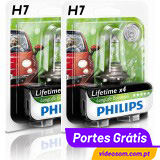 Philips H7 LongLife EcoVision H7LL 12v 55w PX26d 12972LLECO ( 2 Lâmpadas )