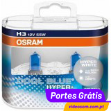 Osram H3 Cool Blue Hyper+  ( 2 Lamp )