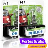 Philips H1 LL EcoVision ( 2 Lâmpadas )