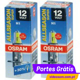 Osram ALL SEASON SUPER +30% H1 12v 55w ( 2 Lâmpadas )