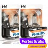Philips Vision +30% H4 12v 60/55w (2 Lâmpadas )