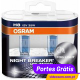 Osram Night Breaker Unlimited  H8 12v  35w ( 2 Lâmpadas )