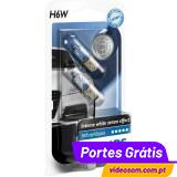 Philips H6W WhiteVision 12v  6w BAX9s  ( 2 Lâmpadas )