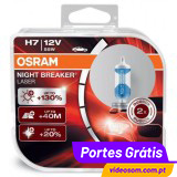 Osram H7 12v 55w Night Breaker Laser +130 %  ( 2 Bulbs )
