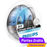 Philips H1 12v 55w Diamond Vision 5000K     ( 2 lâmpadas )
