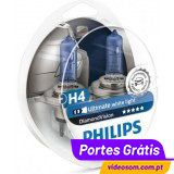 Philips H4 12v 55/60w Diamond Vision 5000K     ( 2 lâmpadas )