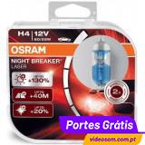 Osram Night Breaker Laser +130 %  H4 12v 60/55w ( 2 Lâmpadas )