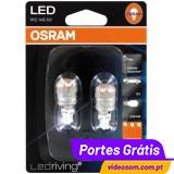 Osram LED Ledriving W16W Vermelho - Premium ( 2 lâmpadas )