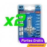 Lâmpada H7 55w PX26D  LAMPA ( 2 Lâmpadas )