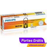 Philips W5W T10 12V 5W w2.1x9.5d ( 10 lâmpadas )