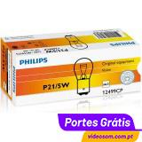 Philips Vision P21w 12V 21W BA15s ( 10 lâmpadas )