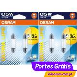OSRAM ULTRA LIFE C5W 12v 5w SV8.5-8 6418ULT ( 4 LÂMPADAS)