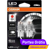 Osram Ledriving W21/5W RED - Premium 7915R ( 2 bulbs )