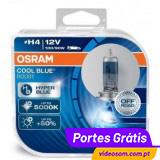 Osram Cool Blue Boost  H4 12V 100/90W P43t 62193 CBB 5000K (2 lâmpadas )