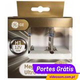 GE Megalight Ultra + 130 H1 12v 55w P14.5s ( 2 Bulbs )