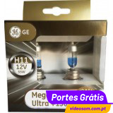 GE Megalight Ultra + 130 H11 12v 55w PGJ19-2 ( 2 bulbs )