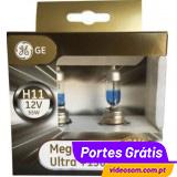 GE Megalight Ultra + 130 H11 12v 55w PGJ19-2 ( 2 bulbs )