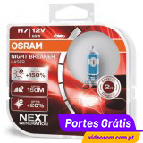 Osram Night Breaker Laser H7 Next Generation +150%  ( 2 Lâmpadas )