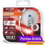 Osram Night Breaker Laser H1 Next Generation +150%  ( 2 Lâmpadas )