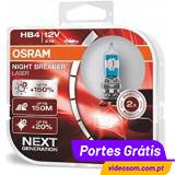Osram Night Breaker Laser HB4 Next Generation +150%  ( 2 Lâmpadas )