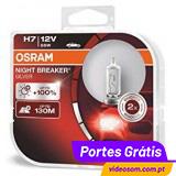 Osram Night Breaker Silver H7 12v 55w ( 2 Lâmpadas )