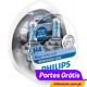 Philips White Vision Ultra H4 + W5W ( 4 Lâmpadas )