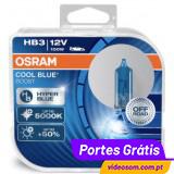 Osram Cool Blue Boost  HB3 12V 100W P20d 69005  CBB (2 lâmpadas )