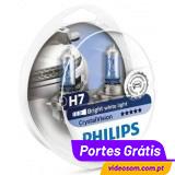 Philips Crystal Vision H7 + W5W ( 4 Lâmpadas )