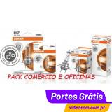 Pack total 150 Lâmpadas Osram Original ( H7+H4+H1+W5W+P21W+P21/5W )