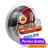Philips H7 X-treme Vision G-FORCE +130 ( 2 Lâmpadas )