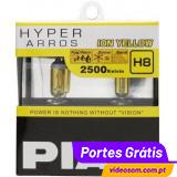 PIAA H8 12v 35w Hyper Arros Ion Yellow 2500K ( 2 Lâmpadas )