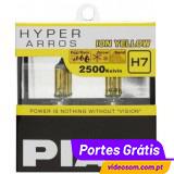 PIAA H7 12v 55w Hyper Arros Ion Yellow 2500K ( 2 Lâmpadas )